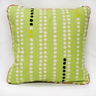 Green Organic Cotton Dots Throw Pillow (Set of 2)