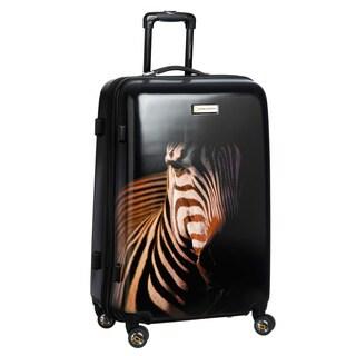 National Geographic Explorer Balboa 'Zebra' 28-inch Large Hardside Spinner Upright Suitcase