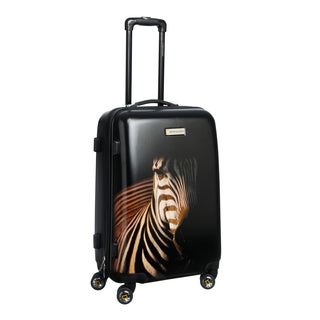 National Geographic Explorer Balboa 'Zebra' 24-inch Medium Hardside Spinner Upright Suitcase