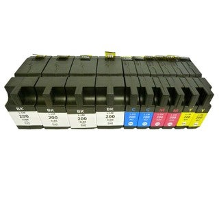 10PK (4K/2C/2M/2Y) Replacing Compatible Lexmark 200 XL Ink Cartridge 14L0174 14L0175 14L0176 14L0177 OfficeEdge Pro4000 Pro5500