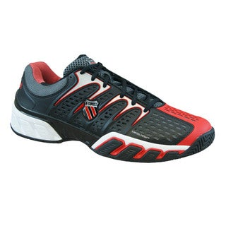 K-Swiss Men's 'BigShot II' Black/ Red Tennis Shoes