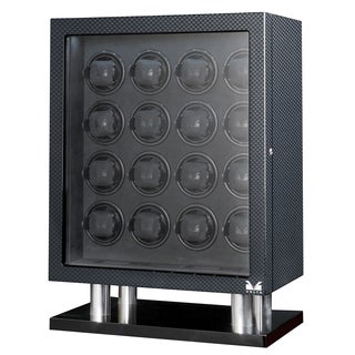 Volta LED 16-watch Carbon Fiber Watch Winder