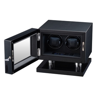 Volta LED Carbon Fiber Double Watch Winder