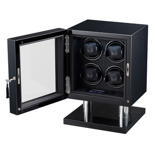 Volta LED 4-watch Carbon Fiber Watch Winder
