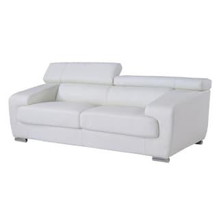White Functional Headrest Sofa
