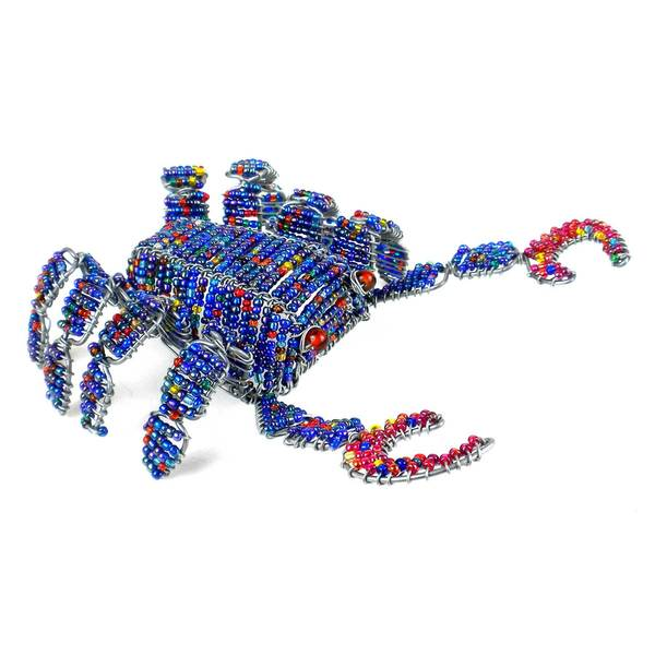 Handmade Beaded Crab Figurine (Zimbabwe)