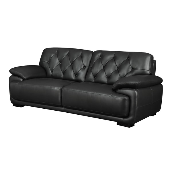 Full Bonded Black Leather