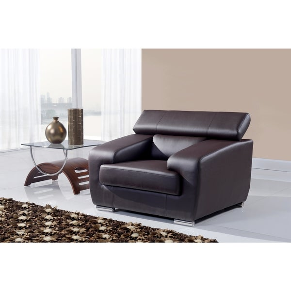 Natalie Chocolate Functional Headrest Chair