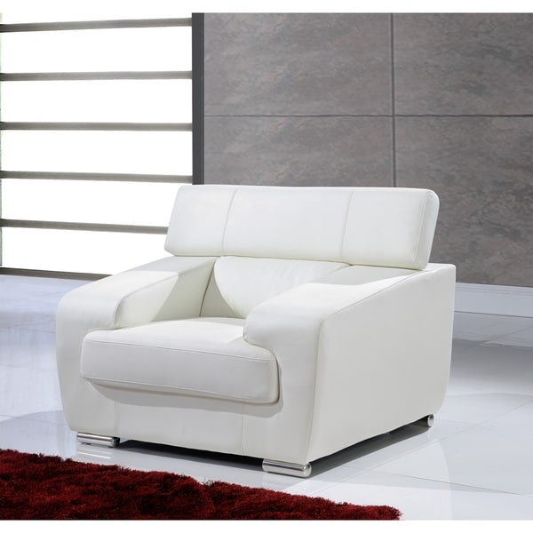 White Functional Headrest Chair
