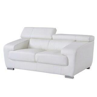 White Functional Headrest Loveseat
