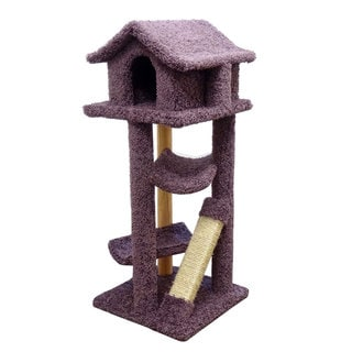 New Cat Condos Solid Wood Cat Pagoda (Purple)