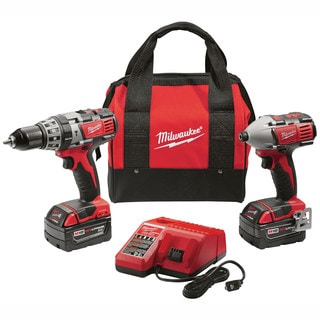 Milwaukee M18 Cordless 18-Volt Lithium-Ion Hammer Drill/ Impact Driver XC Combo Kit (Set of 2 Tools)