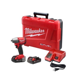 Milwaukee M18 Fuel 18-Volt Brushless Lithium-Ion 3/8-inch mpact Wrench Compact Battery Kit