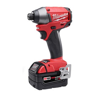 Milwaukee M18 Fuel 18-Volt Brushless Lithium-ion 1/4-inch Hex Impact Driver XC Battery Kit