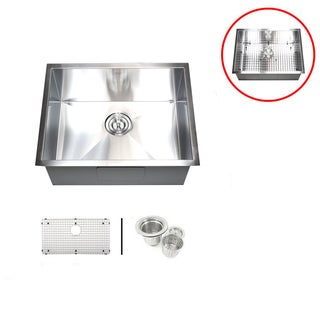 26-inch Single Bowl Undermount Zero Radius Kitchen Sink Basket Strainer/ Grid Accessories