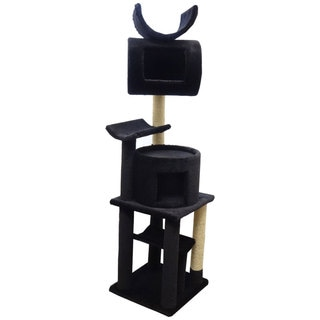 New Cat Condos Solid Wood Cat Play Station (Black)