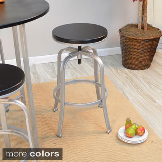 Waldon Metal and Wood Adjustable Stool