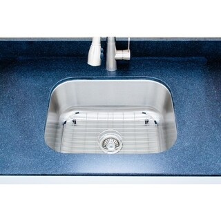 Wells Sinkware 23-inch Undermount Single-bowl 18-gauge Stainless Steel Kitchen Sink Package