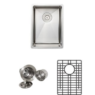 Wells Sinkware Commercial Grade 16-gauge 13-inch Handcrafted Single Bowl Undermount Stainless Steel Kitchen Sink Pack