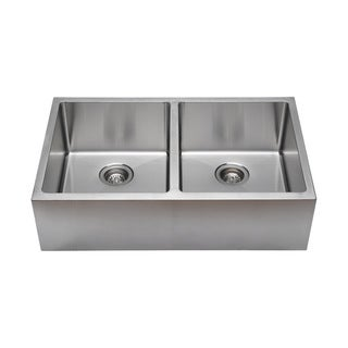 Commercial Grade Stainless Steel : ... Commercial Grade Undermount 50/50 Double Bowl 16-gauge Stainless Steel