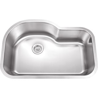 Wells Sinkware 32-inch Undermount Single Bowl 18-gauge Stainless Steel Kitchen Sink Package