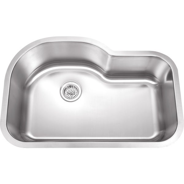 Undermount Stainless Steel Sink Single Bowl : ... Undermount Single Bowl 18-gauge Stainless Steel Kitchen Sink Package