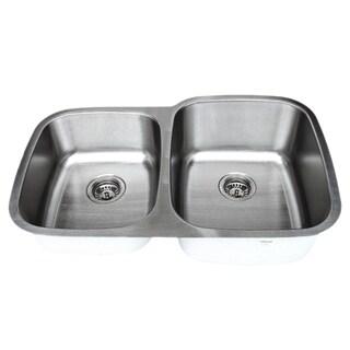 Wells Sinkware 32-inch Undermount 40/60 Double Bowl 18-gauge Stainless Steel Kitchen Sink