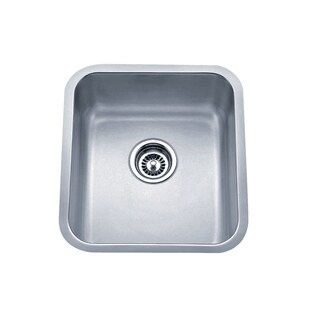 Wells Sinkware 16-inch Undermount Single Bowl 18-gauge Stainless Steel Kitchen Sink Package