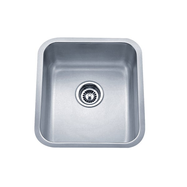 Wells Sinkware 16-inch Undermount Single Bowl 18-gauge Stainless Steel Kitchen Sink Package
