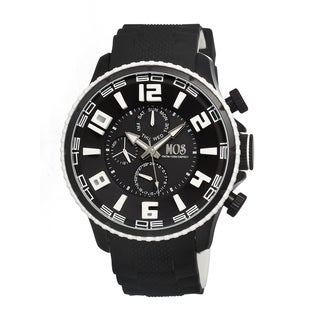 Mos Men's Barcelona Black Silicone Black Analog Watch