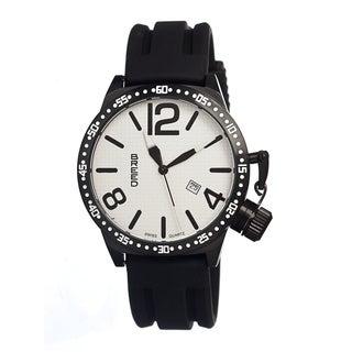 Breed Men's Lucan White Silicone Black Analog Watch