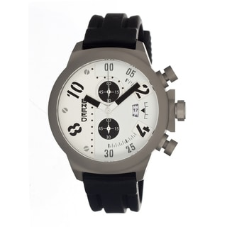 Breed Men's Arnold White Silicone Black Analog Watch