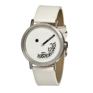 Simplify Men's The 500 White Leather Analog Watch