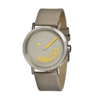 Simplify Men's The 500 Grey Leather Grey Analog Watch