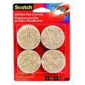 Scotch 1.5-inch Beige Self-stick Floor Care Pads (Pack of 8)