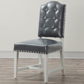 Allure Silver Leather Dining Chair (Set of 2)