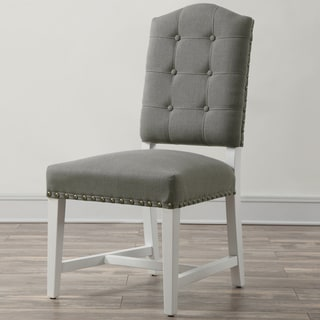 Glamour Grey Linen Dining Chair (Set of 2)