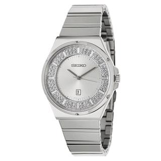 Seiko Women's Crystal Bezel Stainless Steel Watch