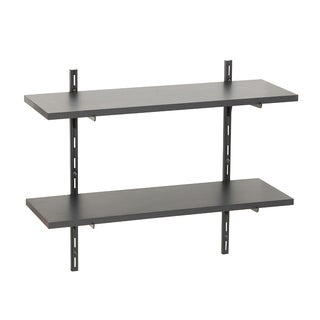 Wallscapes Black 8x24 2-shelf Kit