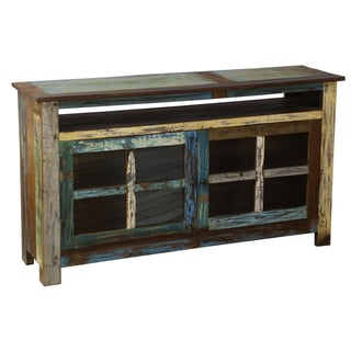 Vinnie Multicolor Recycled Wood TV Stand
