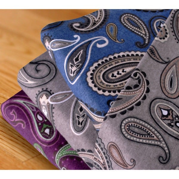 Superior Paisley Cotton Deep Pocket Flannel Deep Pocket Sheet Set