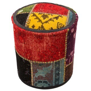 Multicolored Patchwork Ottoman