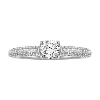 Cambridge 14k White Gold 3/4ct TDW Diamond Engagement Ring (I-J, I1-I2)