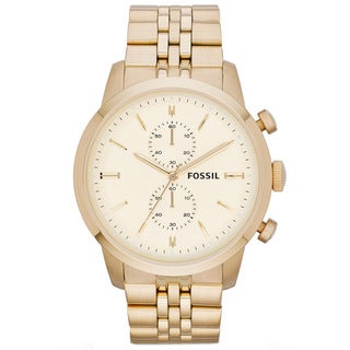 Fossil Men's FS4856 Townsman Goldtone Chronograph Watch
