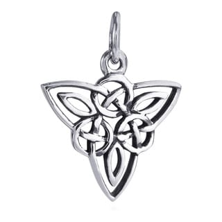Celtic Triquetra Knot Sterling Silver Pendant or Charm (Thailand)