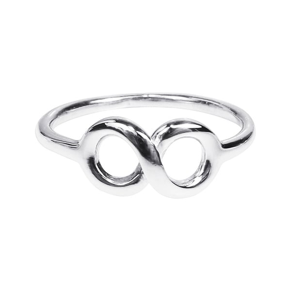 Endless Love Knot Infinity Symbol Sterling Silver Ring (Thailand)