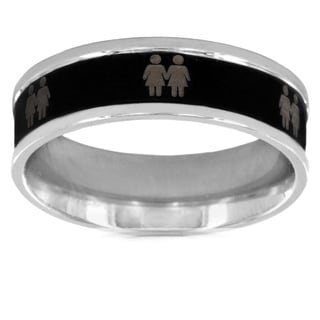 Two-tone Stainless Steel Female Gay Equality Ring