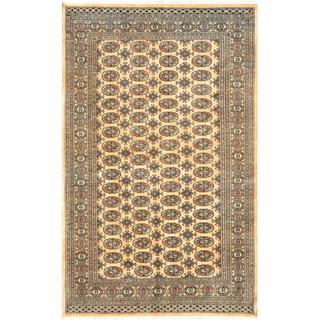 Pakistani Hand-knotted Bokhara Tan/ Ivory Wool Rug (4'11 x 7'10)