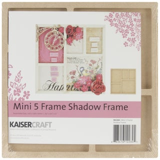 """Beyond The Page MDF Mini 5-Opening Shadow Frame-6.5""""X6.5""""X.5"""""""