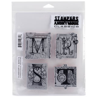 """Stampers Anonymous Rubber Stamp Set 7""""X8.5""""-Classics #15"""